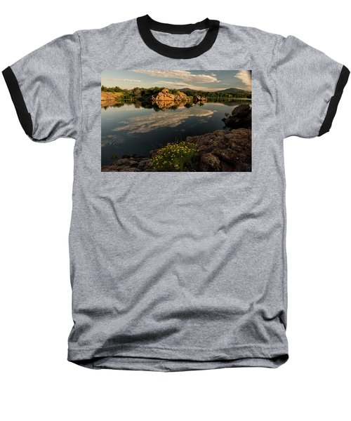 Wildflowers At The Lake Baseball T-Shirt