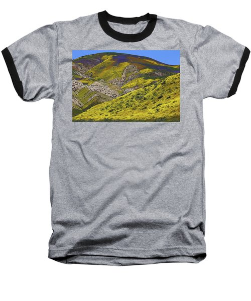 Wildflowers Galore At Carrizo Plain National Monument In California Baseball T-Shirt by Jetson Nguyen