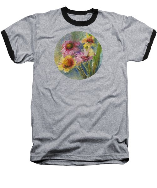 Baseball T-Shirt featuring the painting Wildflowers by Mary Wolf