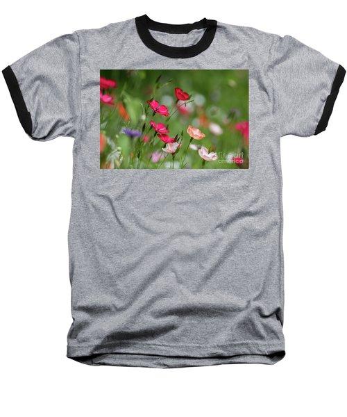Wildflowers Meadow Baseball T-Shirt