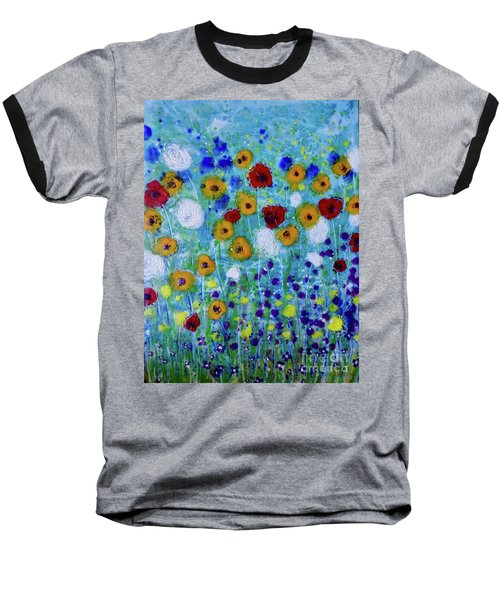 Wildflowers Never Die Baseball T-Shirt