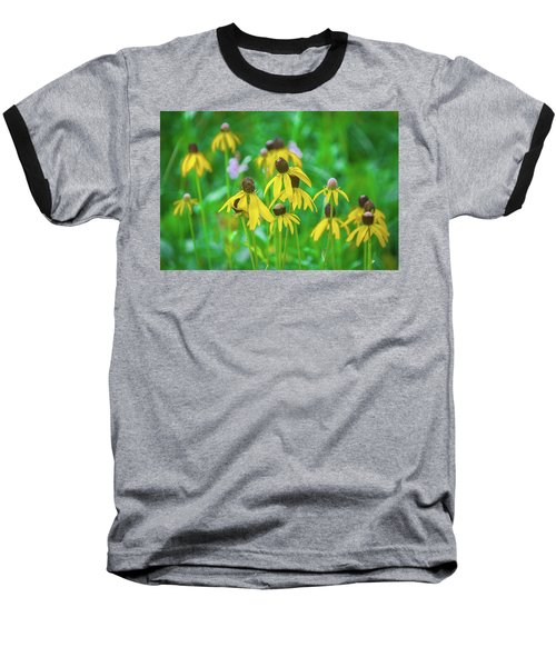 Baseball T-Shirt featuring the photograph Wildflowers Of Yellow by Bill Pevlor