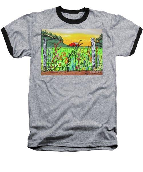 Wildflowers On The Farm Baseball T-Shirt