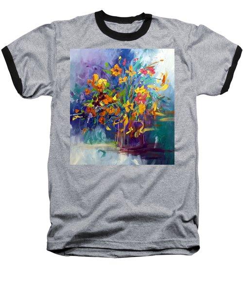 Wildflowers Baseball T-Shirt by Terri Einer