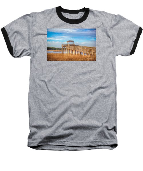 Wildlife Viewing Pier Baseball T-Shirt by Marion Johnson
