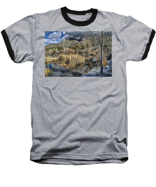 Baseball T-Shirt featuring the photograph Wildlife Water Hole by Alan Toepfer