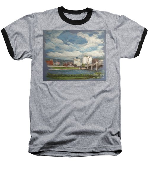Wilkes-barre And River Baseball T-Shirt by Christina Verdgeline