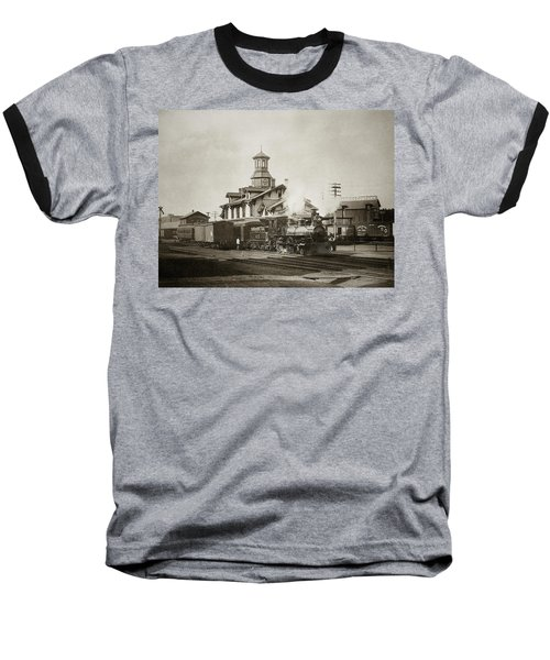 Wilkes Barre Pa. New Jersey Central Train Station Early 1900's Baseball T-Shirt