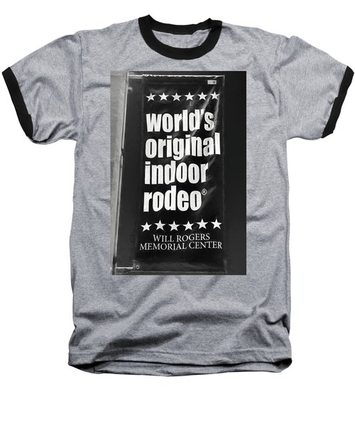 Will Rogers Rodeo Bw Baseball T-Shirt