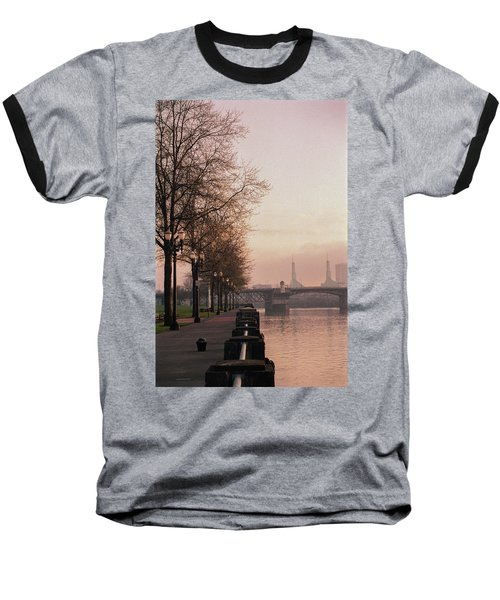 Baseball T-Shirt featuring the photograph Willamette Riverfront, Portland, Oregon by Frank DiMarco