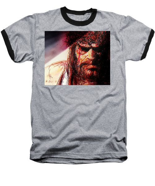 Willem Dafoe - Actor Baseball T-Shirt by Hartmut Jager