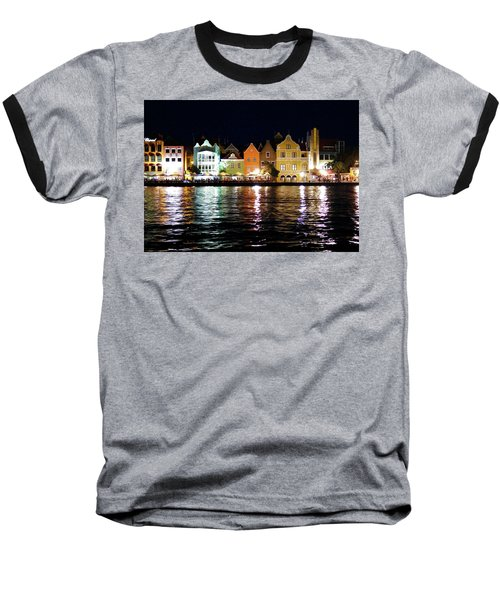 Baseball T-Shirt featuring the photograph Willemstad, Island Of Curacoa by Kurt Van Wagner