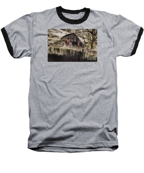 Baseball T-Shirt featuring the photograph Willets Barn by Shirley Mangini