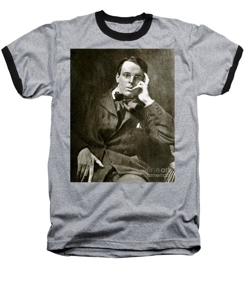 Baseball T-Shirt featuring the photograph William Butler Yeats by Pg Reproductions