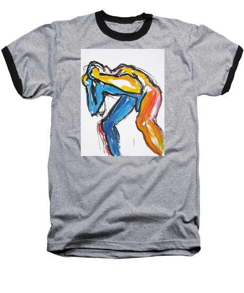 Baseball T-Shirt featuring the painting William Flynn Block by Shungaboy X