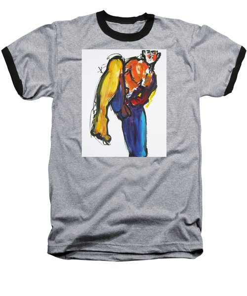William Flynn Kick Baseball T-Shirt by Shungaboy X