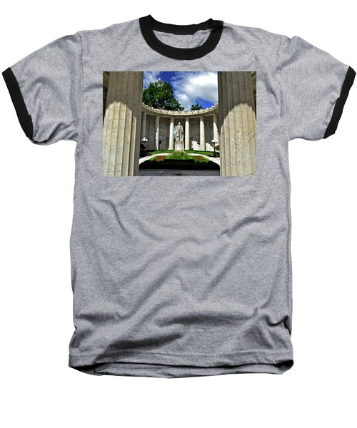 Baseball T-Shirt featuring the photograph William Mckinley Memorial 002 by George Bostian