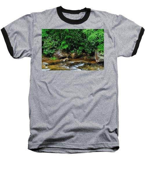 Williams River And Rhododdendron Baseball T-Shirt