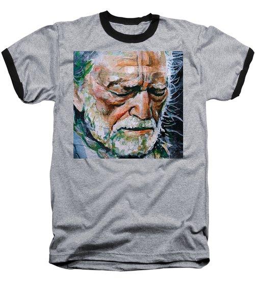 Willie Nelson 7 Baseball T-Shirt by Laur Iduc