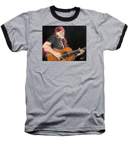 Willie Nelson Baseball T-Shirt by Tom Carlton