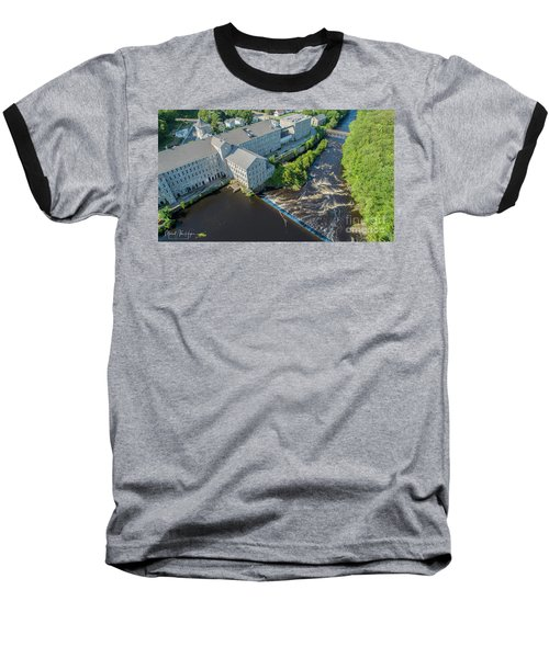 Willimantic River And Mill #2 Baseball T-Shirt