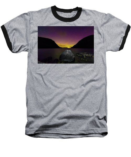 Willoughby Aurora And Boulder Baseball T-Shirt by Tim Kirchoff