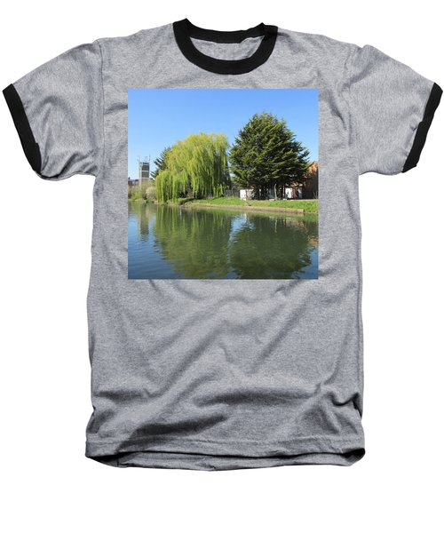 Baseball T-Shirt featuring the photograph Jessica Willow Likes David Pine - Grand Union Canal - Park Royal  by Mudiama Kammoh
