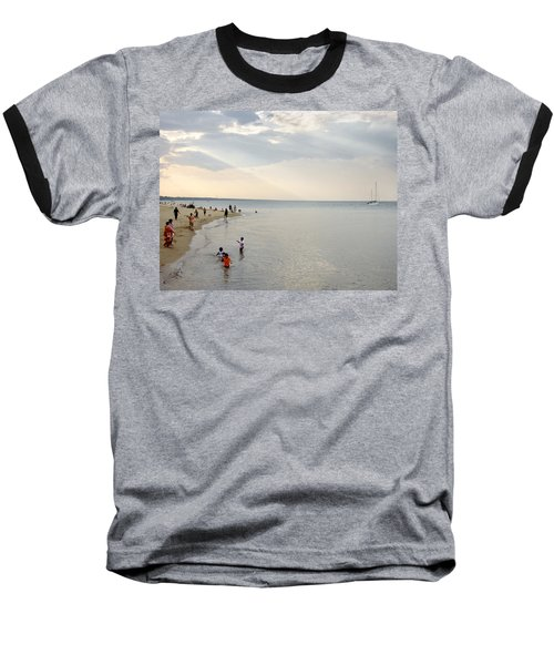 Wilmette Beach Labor Day 2009 Baseball T-Shirt by John Hansen