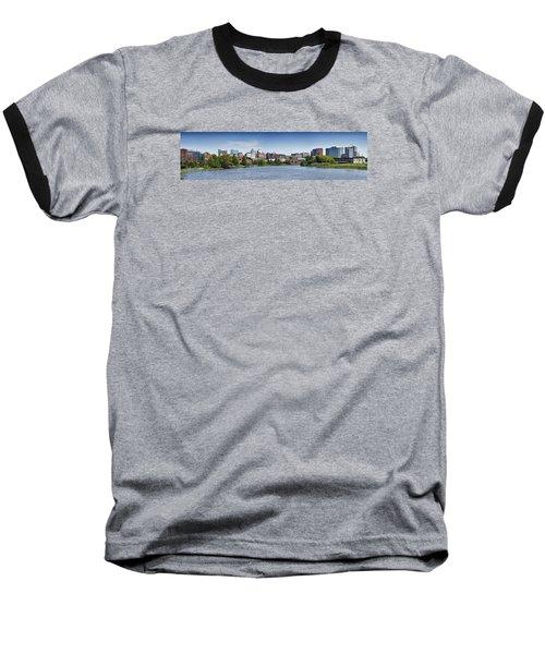 Wilmington Skyline Panorama - Delaware Baseball T-Shirt by Brendan Reals