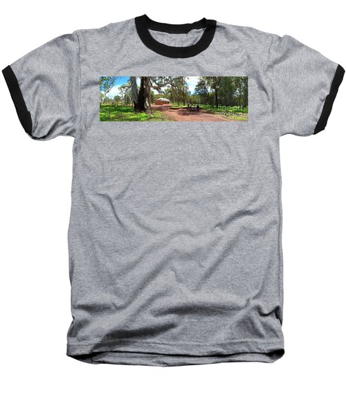 Wilpena Pound Homestead Baseball T-Shirt by Bill Robinson