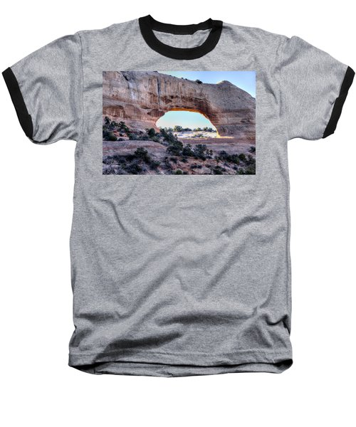 Baseball T-Shirt featuring the photograph Wilson Arch In The Morning by Alan Toepfer