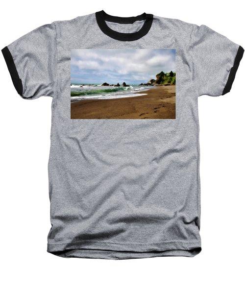 Wilson Creek Beach Baseball T-Shirt by Lana Trussell