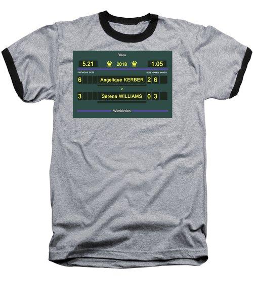 Wimbledon Scoreboard - Customizable - 2017 Muguruza Baseball T-Shirt