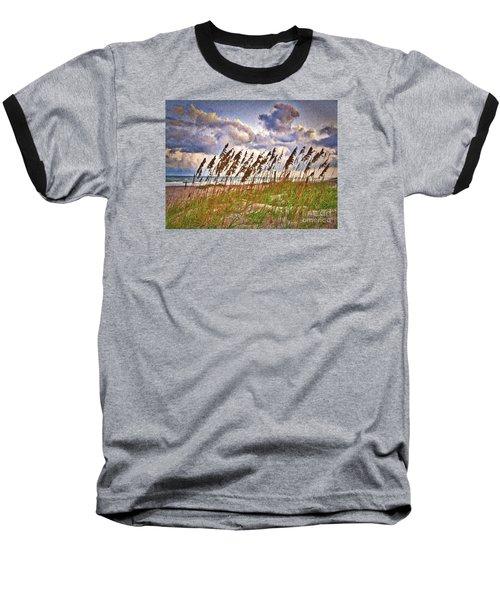 Wind And Waves  ... Baseball T-Shirt by Chuck Caramella