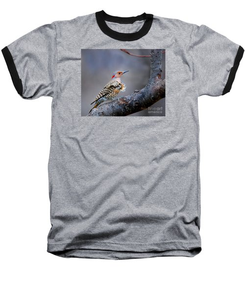 Baseball T-Shirt featuring the photograph Wind Blown Flicker by Nava Thompson