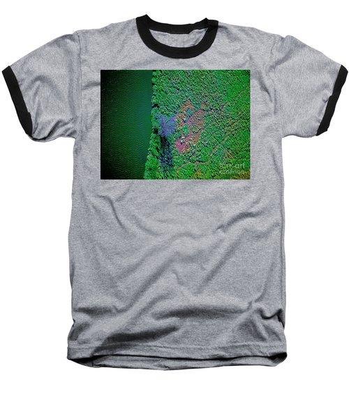 Wind Blown Marsh Tree And Water Baseball T-Shirt