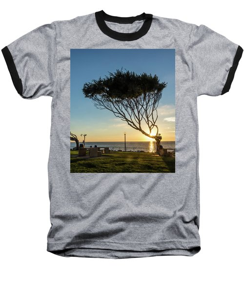 Wind Blown Tree Baseball T-Shirt