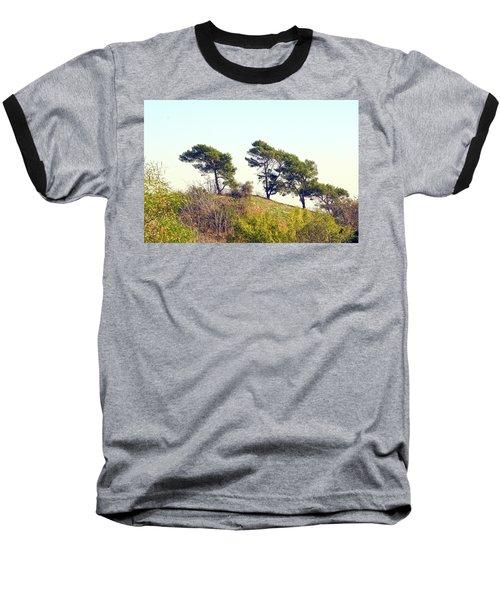 Wind Blown Trees Baseball T-Shirt