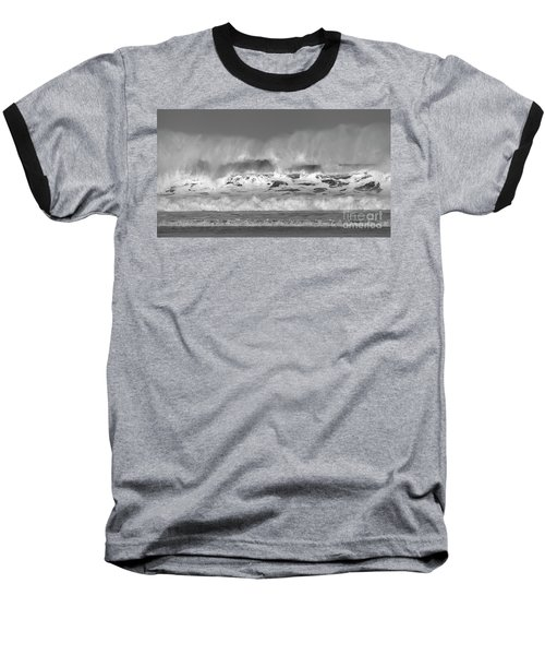 Baseball T-Shirt featuring the photograph Wind Blown Waves by Nicholas Burningham