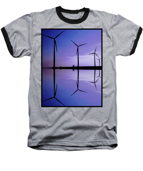 Wind Energy Turbines At Dusk Baseball T-Shirt by Bob Pardue