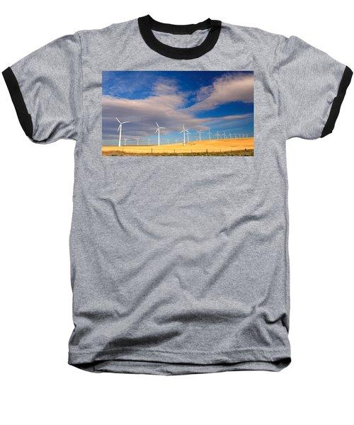 Wind Farm Against The Sky Baseball T-Shirt