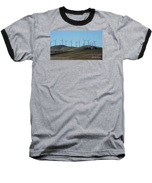 Wind Farm Baseball T-Shirt