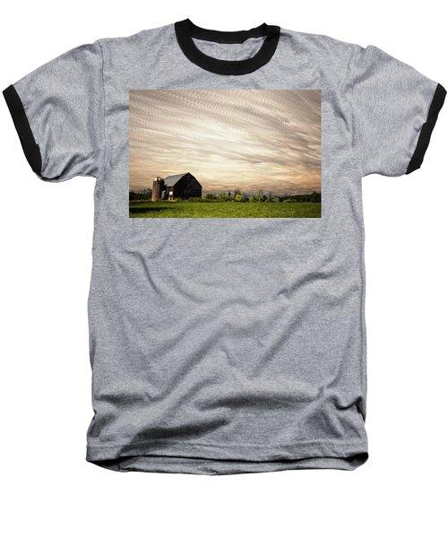 Wind Farm Baseball T-Shirt