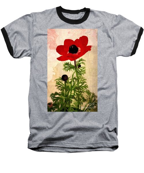 Wind Flower Baseball T-Shirt by Alexis Rotella