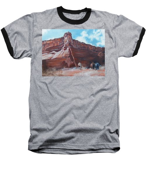 Baseball T-Shirt featuring the painting Wind Horse Canyon by Karen Kennedy Chatham