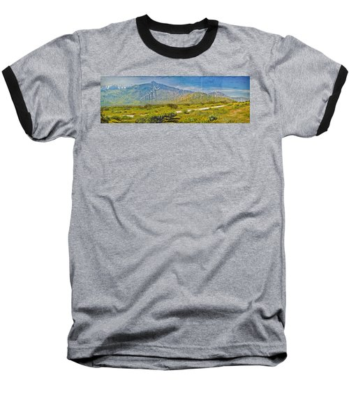 Baseball T-Shirt featuring the photograph Wind Turbine Farm Palm Springs Ca by David Zanzinger