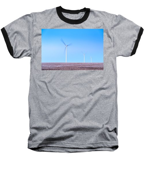 Wind Turbines Baseball T-Shirt