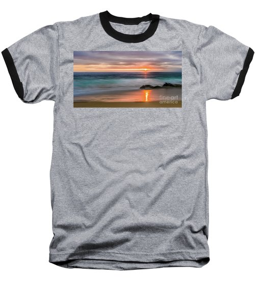 Windansea Beach At Sunset Baseball T-Shirt