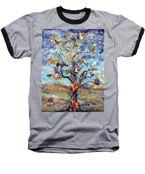 Windbreak Baseball T-Shirt by Regina Valluzzi