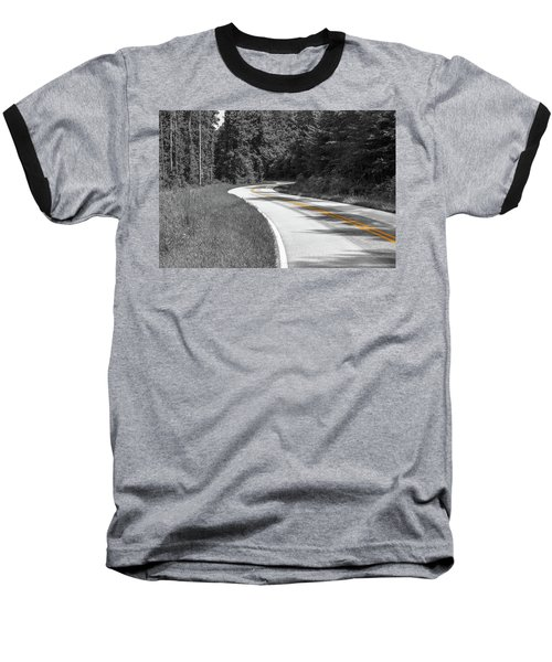 Winding Country Road In Selective Color Baseball T-Shirt